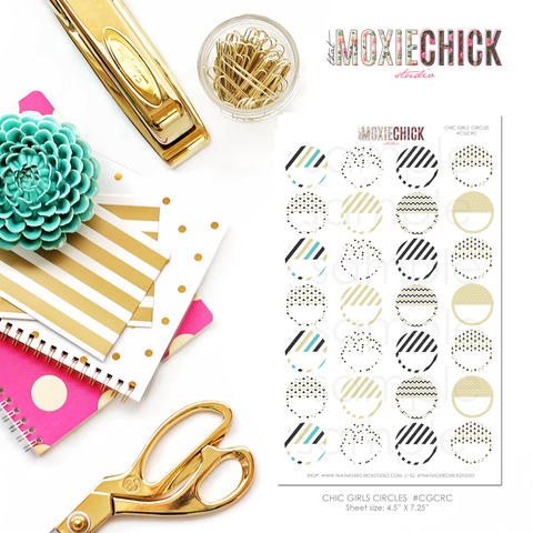 Circles / Half Circles - Matches Chic Girls - Great for planners! - That Moxie Chick Studio