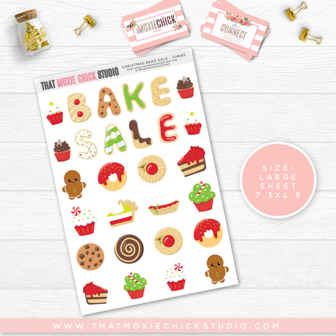 NEW RELEASE // CHRISTMAS BAKE SALE // SINGLE LARGE SHEET