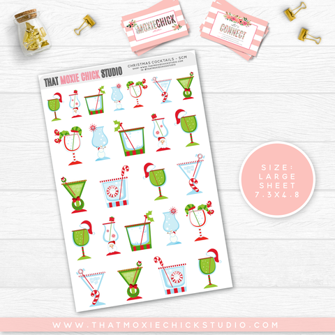 NEW RELEASE // CHRISTMAS COCKTAILS & GOODIES // SINGLE LARGE SHEET