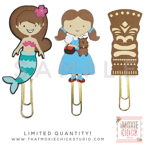Paper Clips! Mermaid, Dorothy, and Tiki! LIMITED QUANTITY // New Release