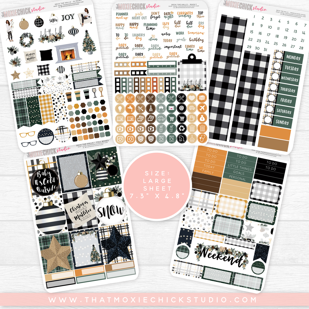 DECK THE HALLS // 5 LARGE SHEETS // NEW RELEASE - That Moxie Chick Studio
