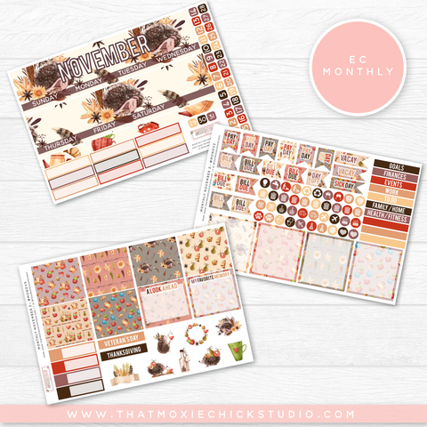 NEW RELEASE // NOVEMBER MONTHLY KIT LARGE SHEETS EC