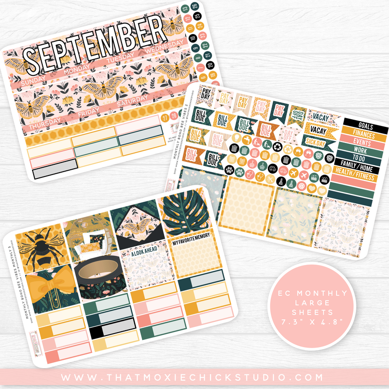 BOHO BEE VIBES 'CHOOSE YOUR OWN MONTH' // ERIN CONDREN MONTHLY // NEW RELEASE