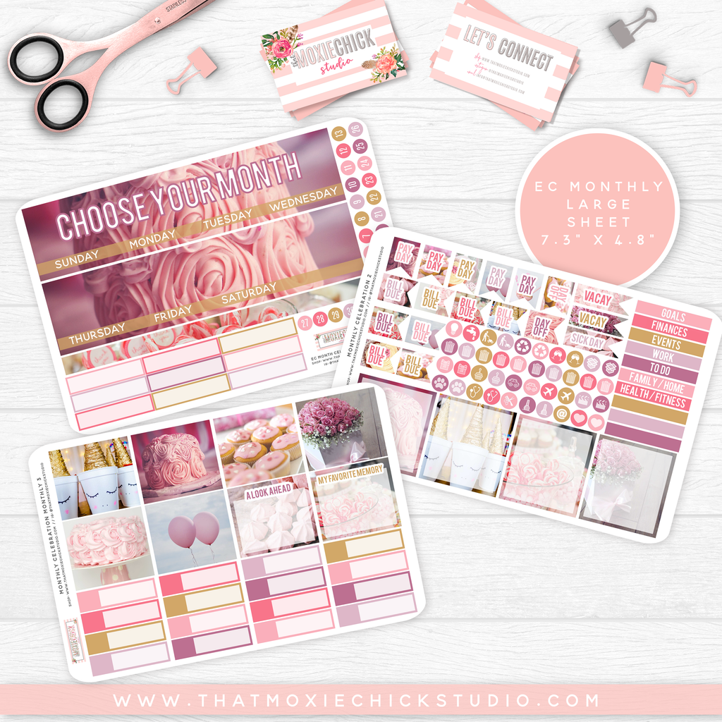 CELEBRATION 'CHOOSE YOUR OWN MONTH' // ERIN CONDREN MONTHLY // NEW RELEASE