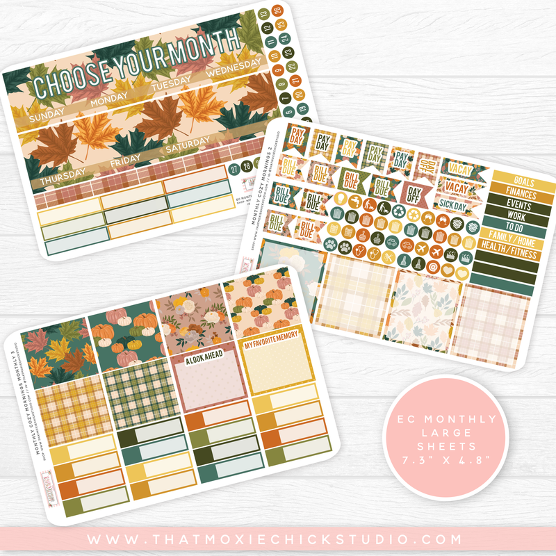 COZY MORNINGS 'CHOOSE YOUR OWN MONTH' // ERIN CONDREN MONTHLY // NEW RELEASE - That Moxie Chick Studio