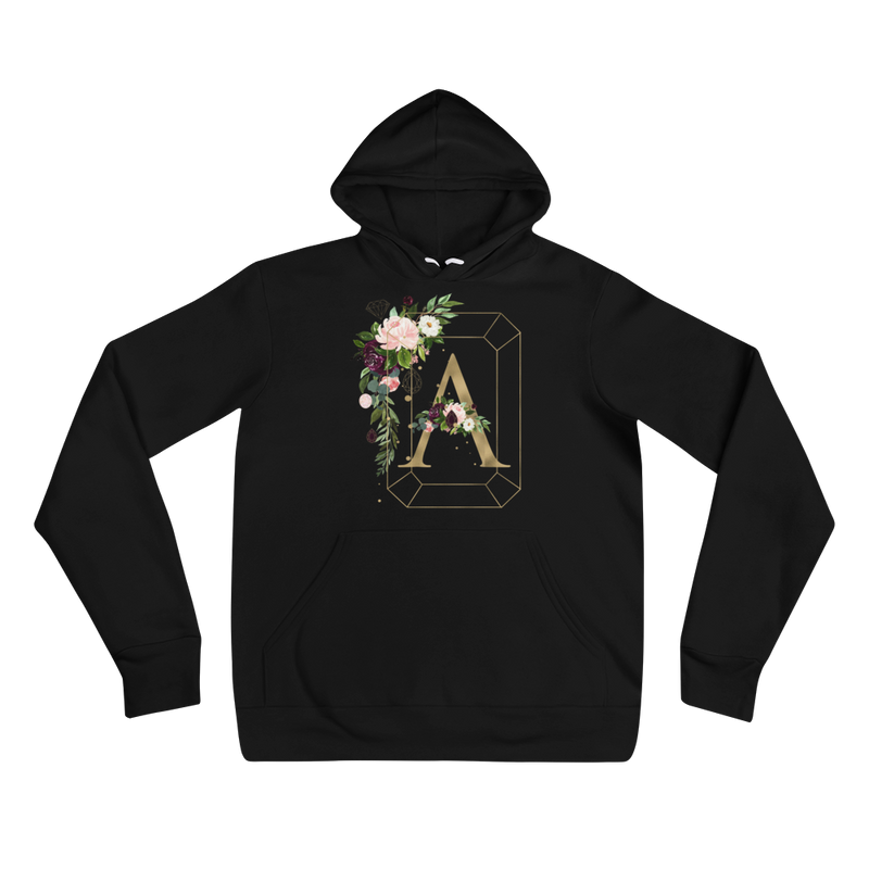Floral Jewels Personalized Unisex hoodie // New Release - That Moxie Chick Studio