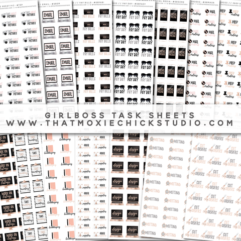 14 NEW Girlboss Task Sheets! // Pay Bills // Take Pictures // Social Media // and more! // New Release - That Moxie Chick Studio