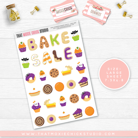 NEW RELEASE // HALLOWEEN BAKE SALE // SINGLE LARGE SHEET