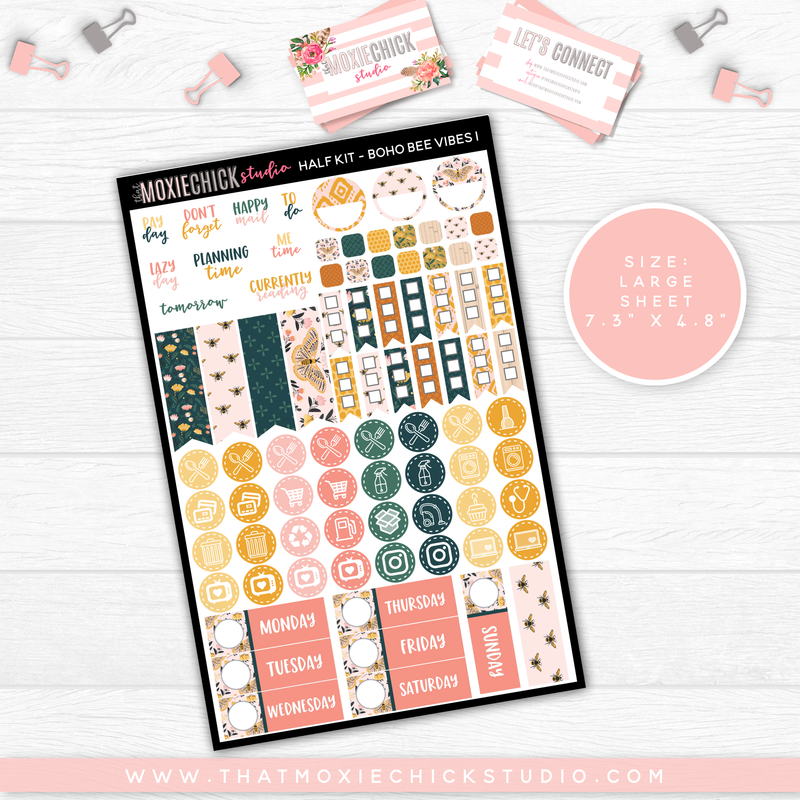 HALF KIT - BOHO BEE VIBES // NEW RELEASE - That Moxie Chick Studio