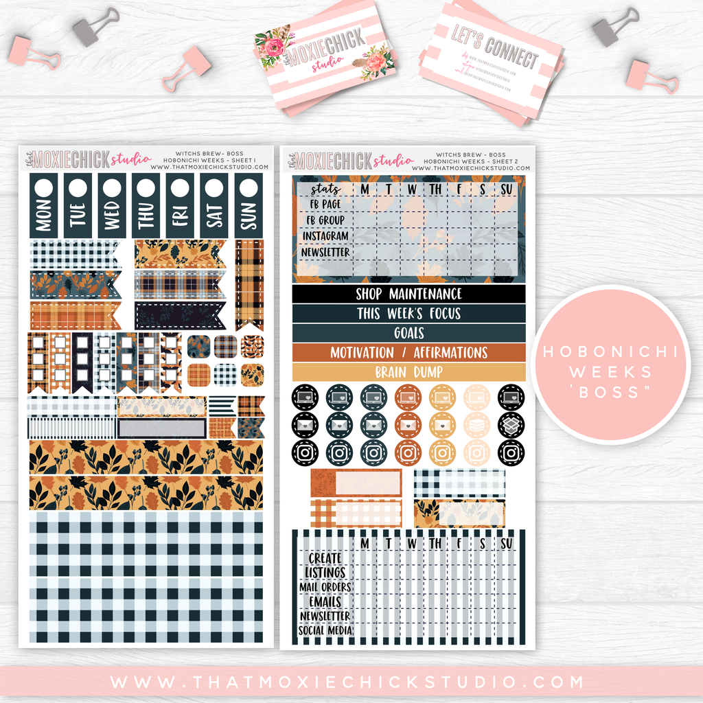 "HOBONICHI WEEKS ""BOSS"" // WITCH'S BREW // NEW RELEASE - That Moxie Chick Studio"