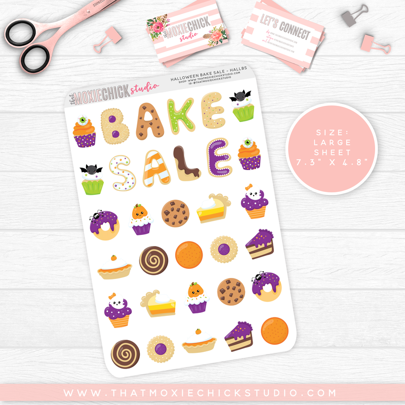 HALLOWEEN TREATS/BAKE SALE // SINGLE LARGE SHEET // NEW RELEASE - That Moxie Chick Studio