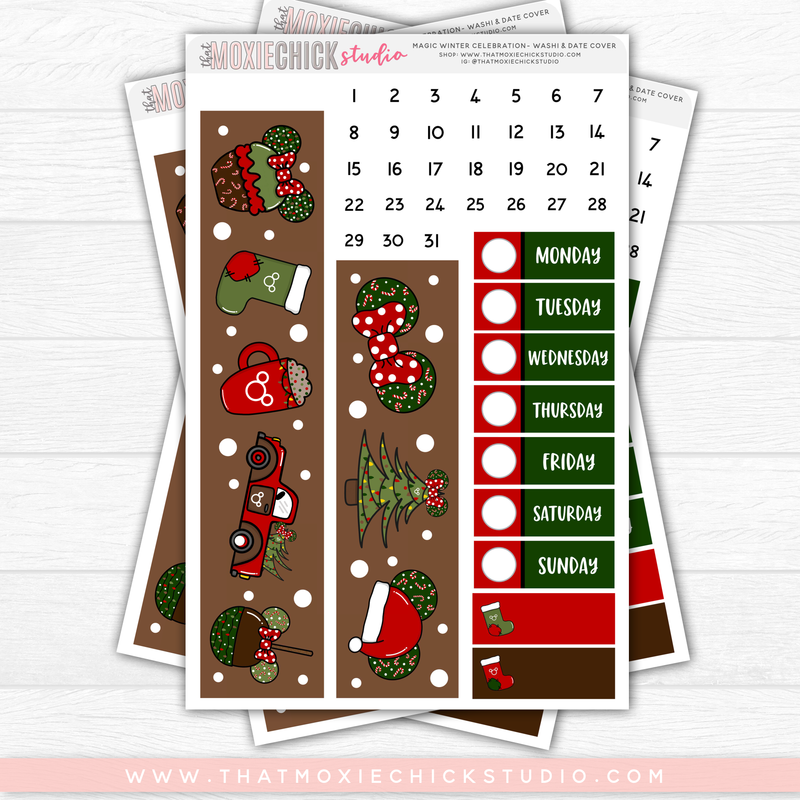 MAGIC WINTER CELEBRATION // HAND DRAWN KIT // 5 LARGE SHEETS // NEW RELEASE