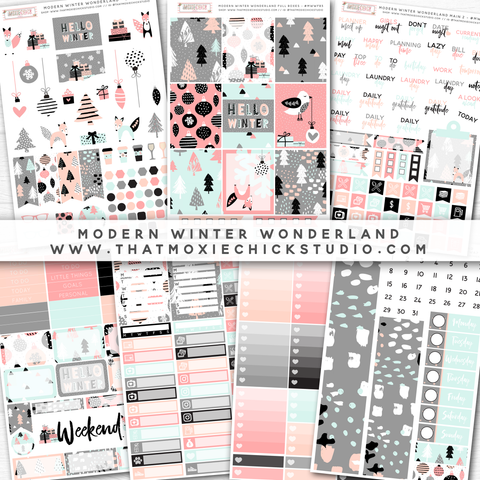 NEW RELEASE // MODERN WINTER WONDERLAND LARGE SHEETS - That Moxie Chick Studio