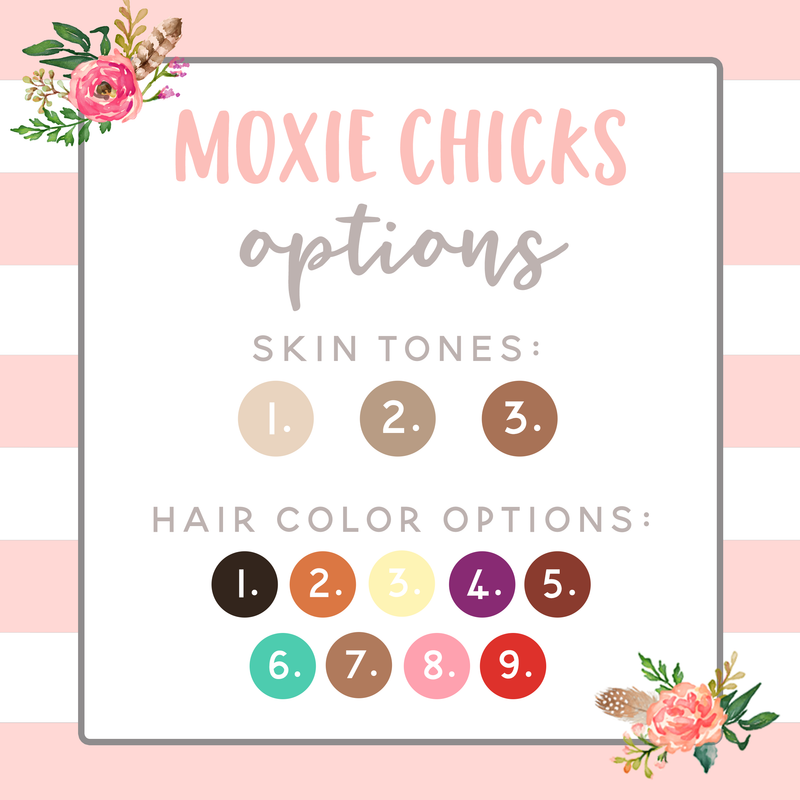 MOXIE CHICKS HOLDING PLANNER // LONG HAIR // QUARTER SHEET // PLAID AND PINK - That Moxie Chick Studio