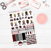 ' NERDY PLANNER FRIENDS // HAND DRAWN KIT // 5 LARGE SHEETS // NEW RELEASE - That Moxie Chick Studio