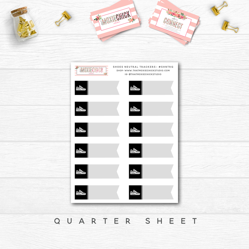 NEW RELEASE // SHOES / WALKING NEUTRAL TRACKERS // QUARTER SHEET - That Moxie Chick Studio