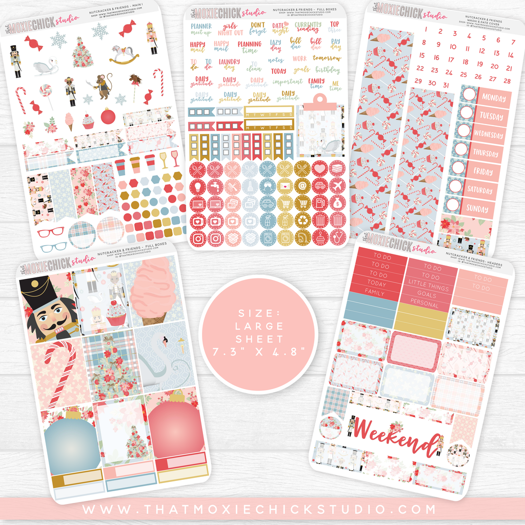 NUTCRACKER & FRIENDS // 5 LARGE SHEETS // NEW RELEASE