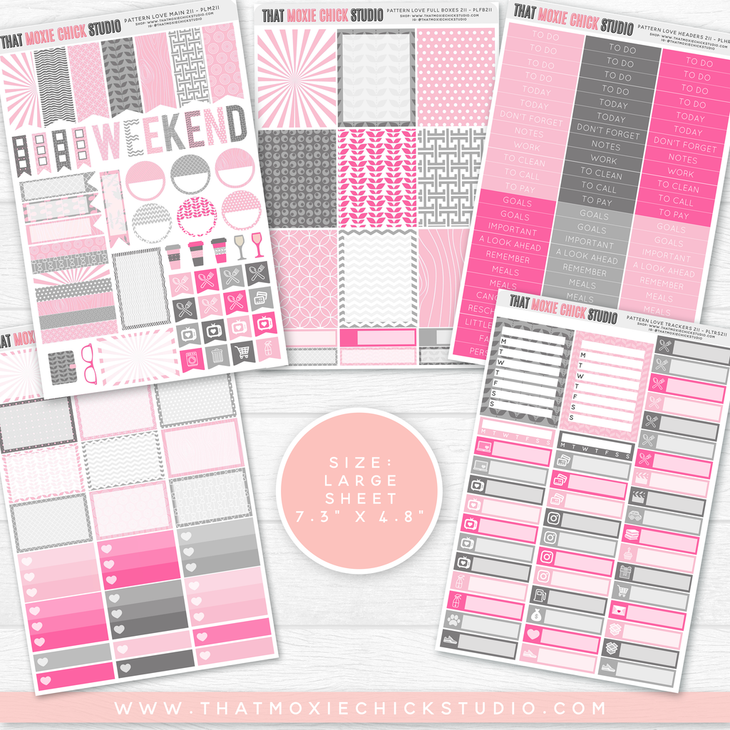 PATTERN LOVE 211 // LARGE SHEETS - That Moxie Chick Studio