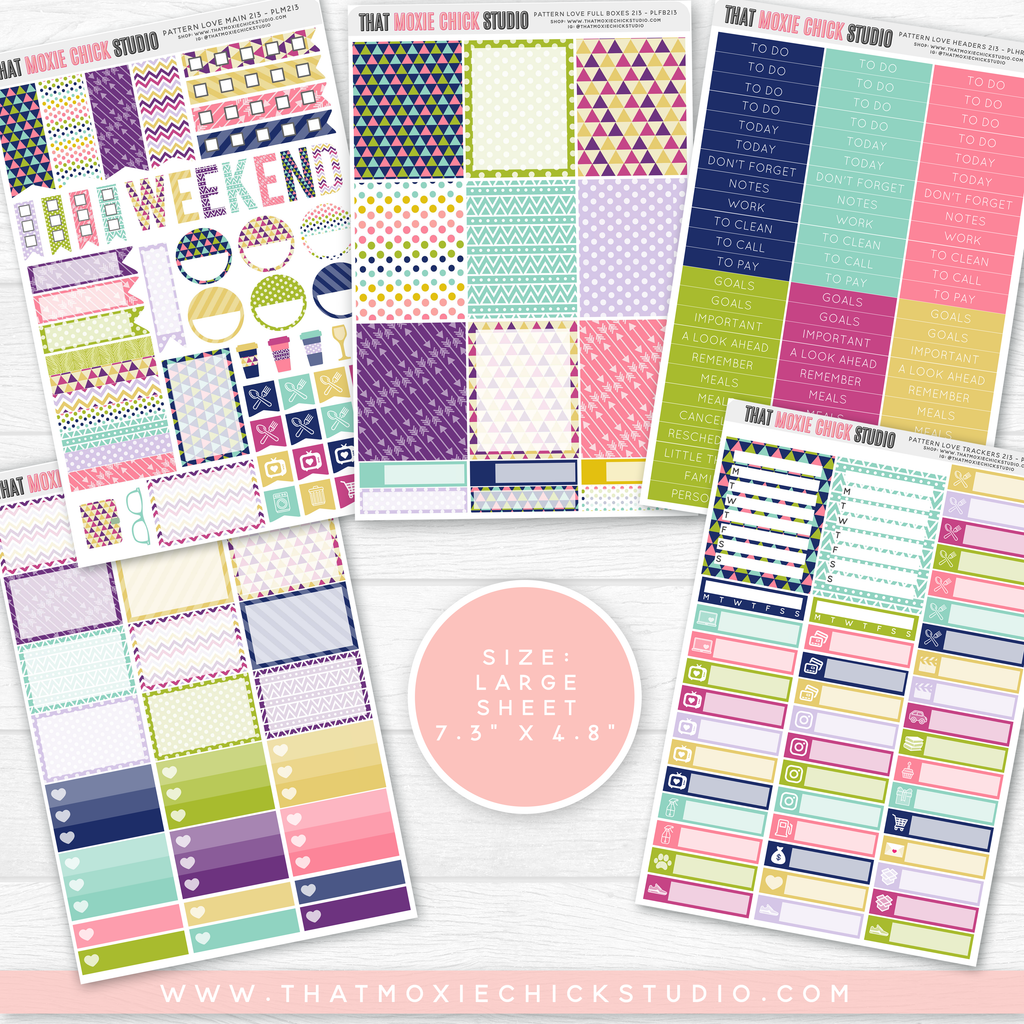 NEW RELEASE // PATTERN LOVE 213 // LARGE SHEETS - That Moxie Chick Studio