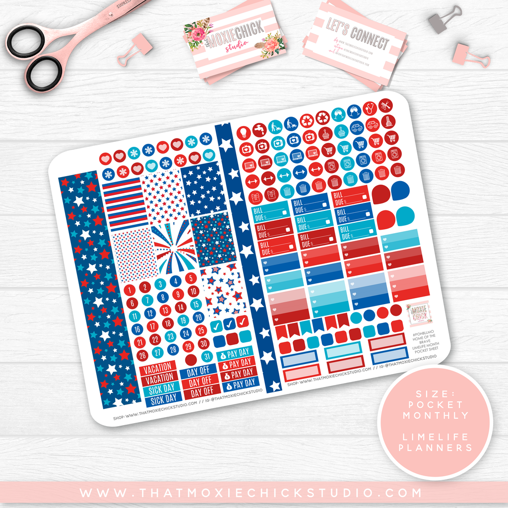 NEW RELEASE // HOME OF THE BRAVE 'LIMELIFE MONTHLY' // POCKET SIZE - That Moxie Chick Studio