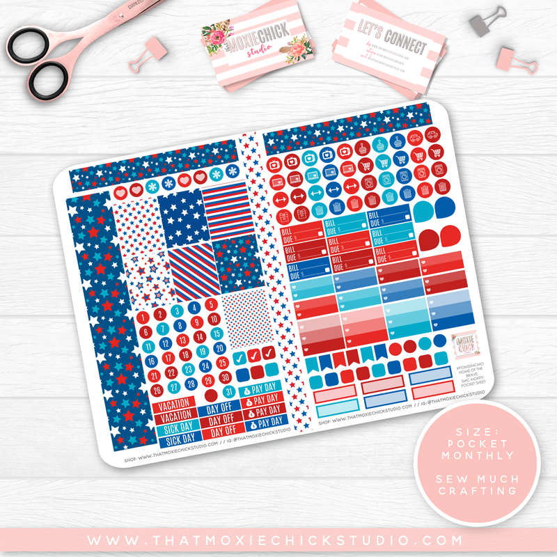 CLEARANCE // HOME OF THE BRAVE 'SEW MUCH CRAFTING MONTHLY' // POCKET SIZE - That Moxie Chick Studio