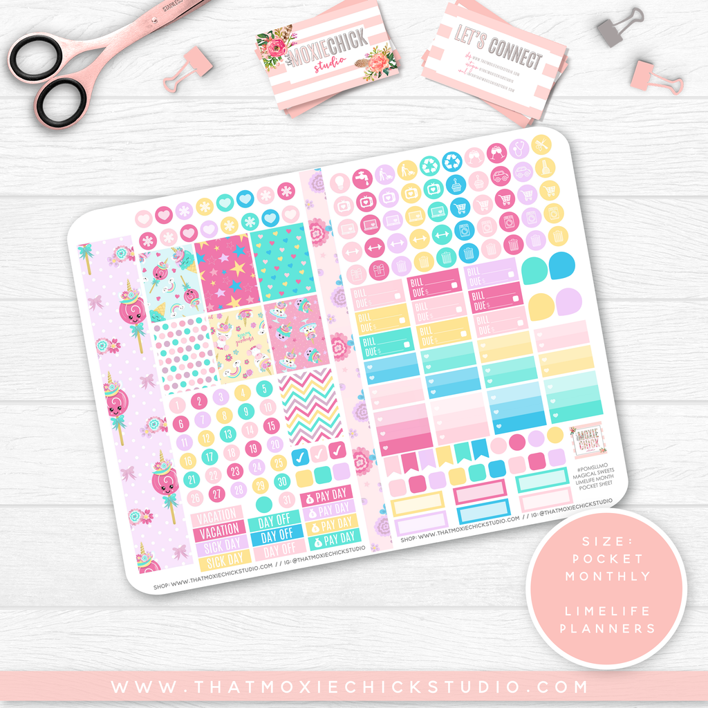 NEW RELEASE // MAGICAL SWEETS 'LIMELIFE MONTHLY' // POCKET SIZE - That Moxie Chick Studio