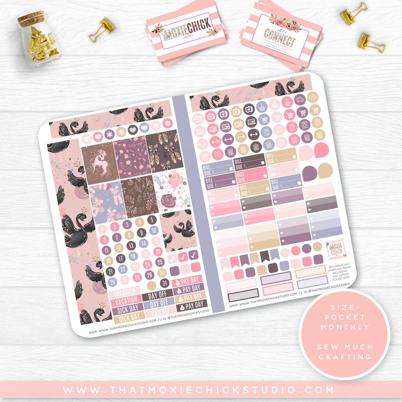 NEW RELEASE // SPARKLING PRIMA BALLERINAS 'SEW MUCH CRAFTING MONTHLY' // POCKET SIZE - That Moxie Chick Studio