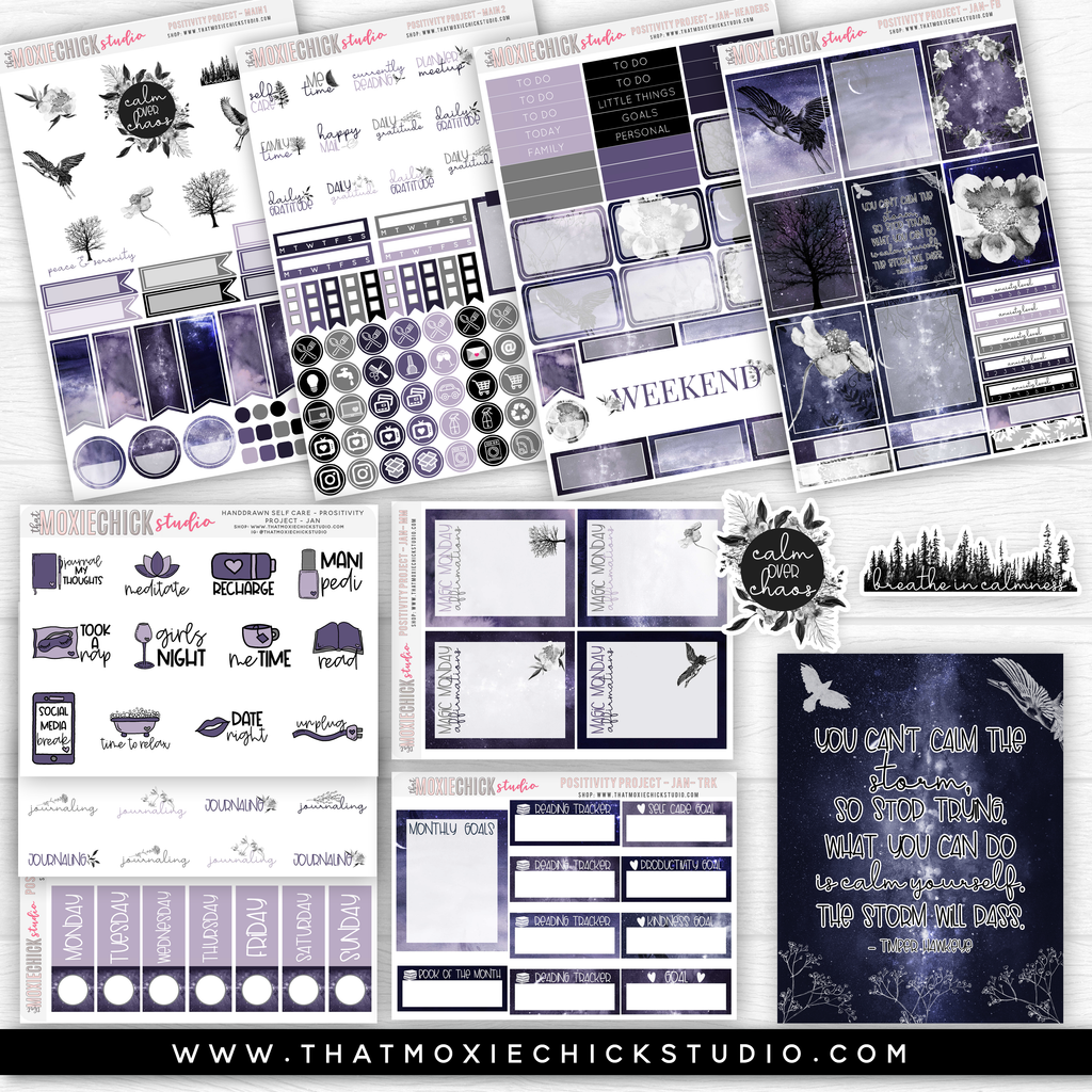 POSITIVITY PROJECT KIT - CALM // NEW RELEASE - That Moxie Chick Studio