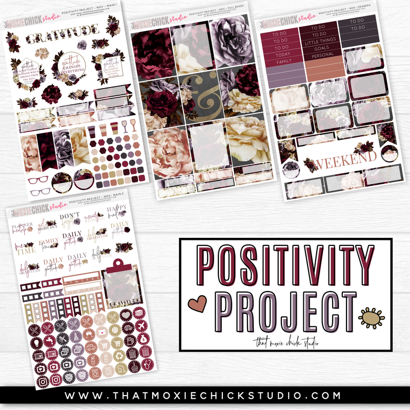 POSITIVITY PROJECT KIT - GRATITUDE // NEW RELEASE - That Moxie Chick Studio
