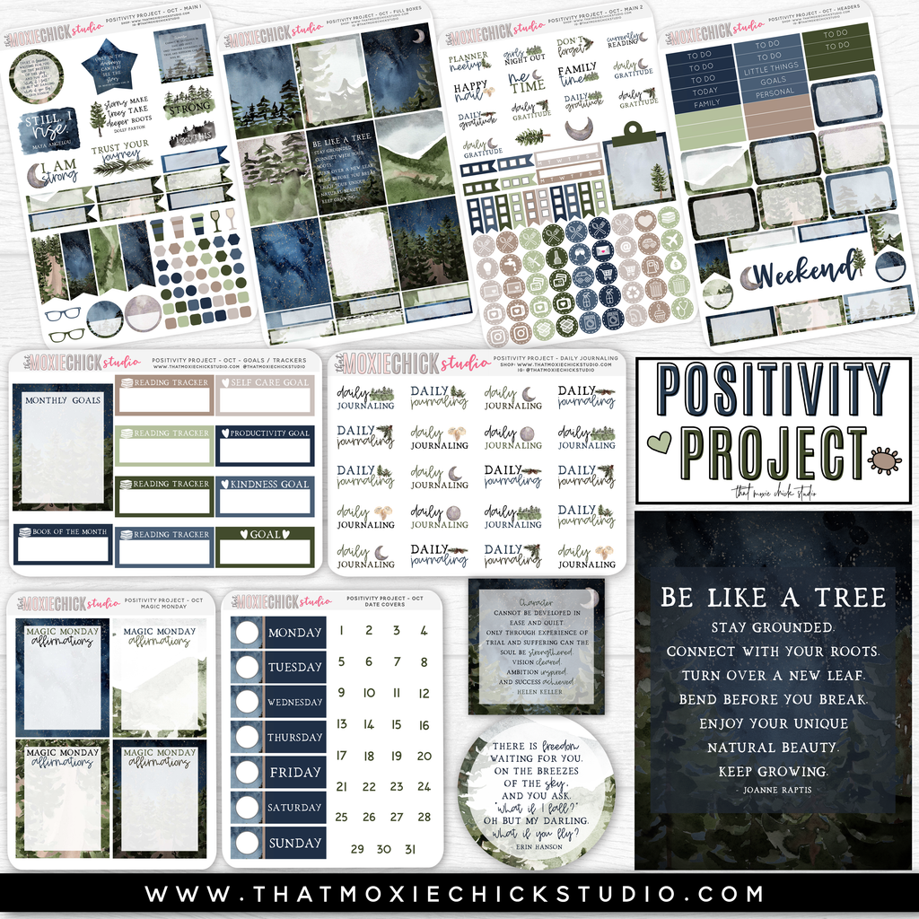 POSITIVITY PROJECT KIT - STRONG // NEW RELEASE - That Moxie Chick Studio