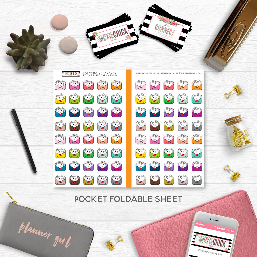 NEW RELEASE // HAPPY MAIL TRACKERS POCKET SIZE - That Moxie Chick Studio