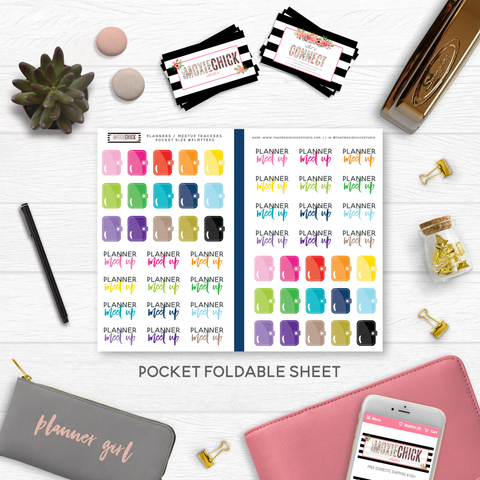 NEW RELEASE // PLANNER MEET UP TRACKERS // POCKET SIZE