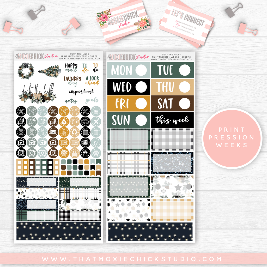 PRINT PRESSION WEEKS // DECK THE HALLS MAIN SHEETS // NEW RELEASE - That Moxie Chick Studio