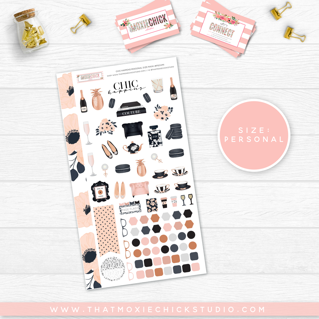 NEW RELEASE// CHIC HAPPENS PERSONAL SIZE SHEETS - That Moxie Chick Studio