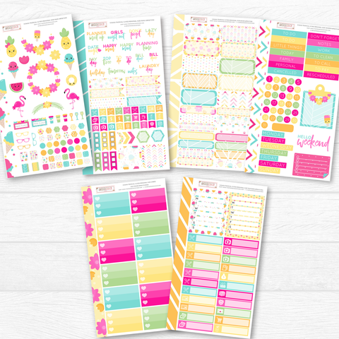 NEW RELEASE! KAWAII TROPICAL CUTIES PERSONAL SIZE SHEETS - That Moxie Chick Studio