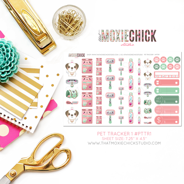 PET TRACKER #PTTRS - FULL SIZE SHEET - That Moxie Chick Studio