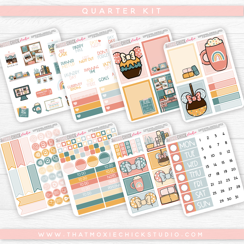 PLANNER FRIENDS - 8 SHEETS QUARTER KIT // NEW RELEASE