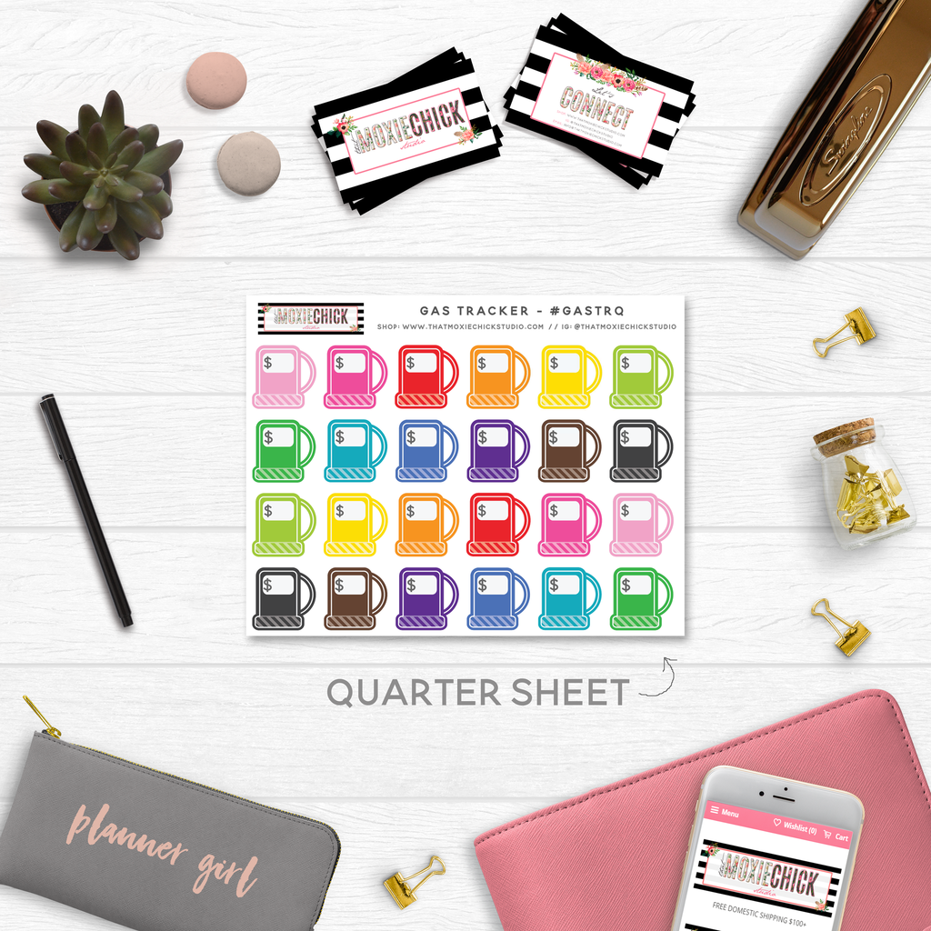 GAS TRACKERS // QUARTER SIZE SHEET - That Moxie Chick Studio