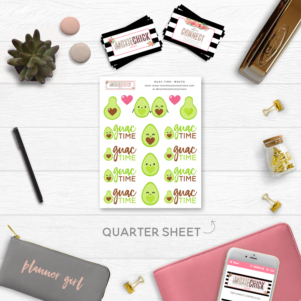 NEW RELEASE // GUAC TIME // QUARTER SHEET - That Moxie Chick Studio