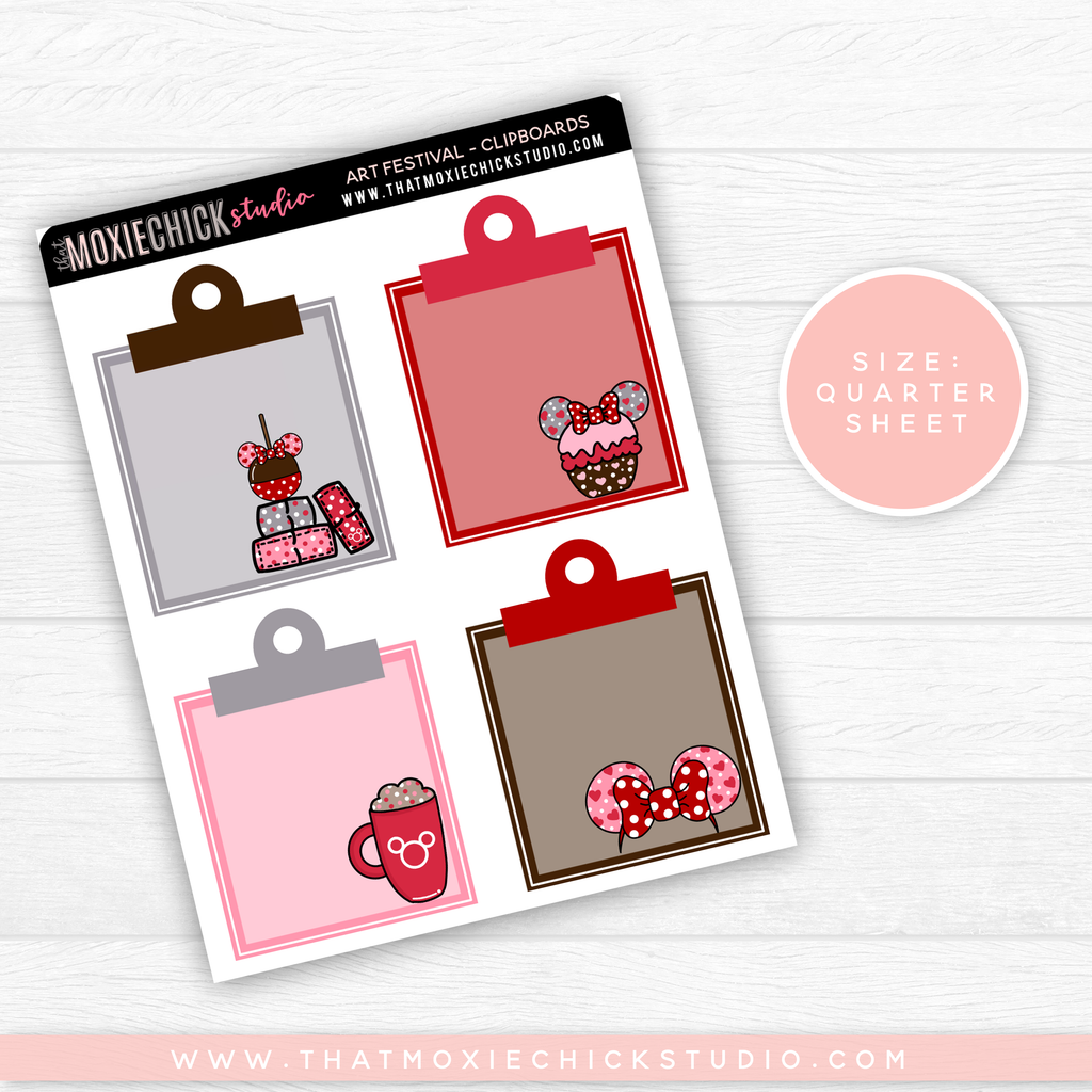 MAGICAL GALENTINE - CLIPBOARDS (HAND DRAWN) // QUARTER SHEET // NEW RELEASE