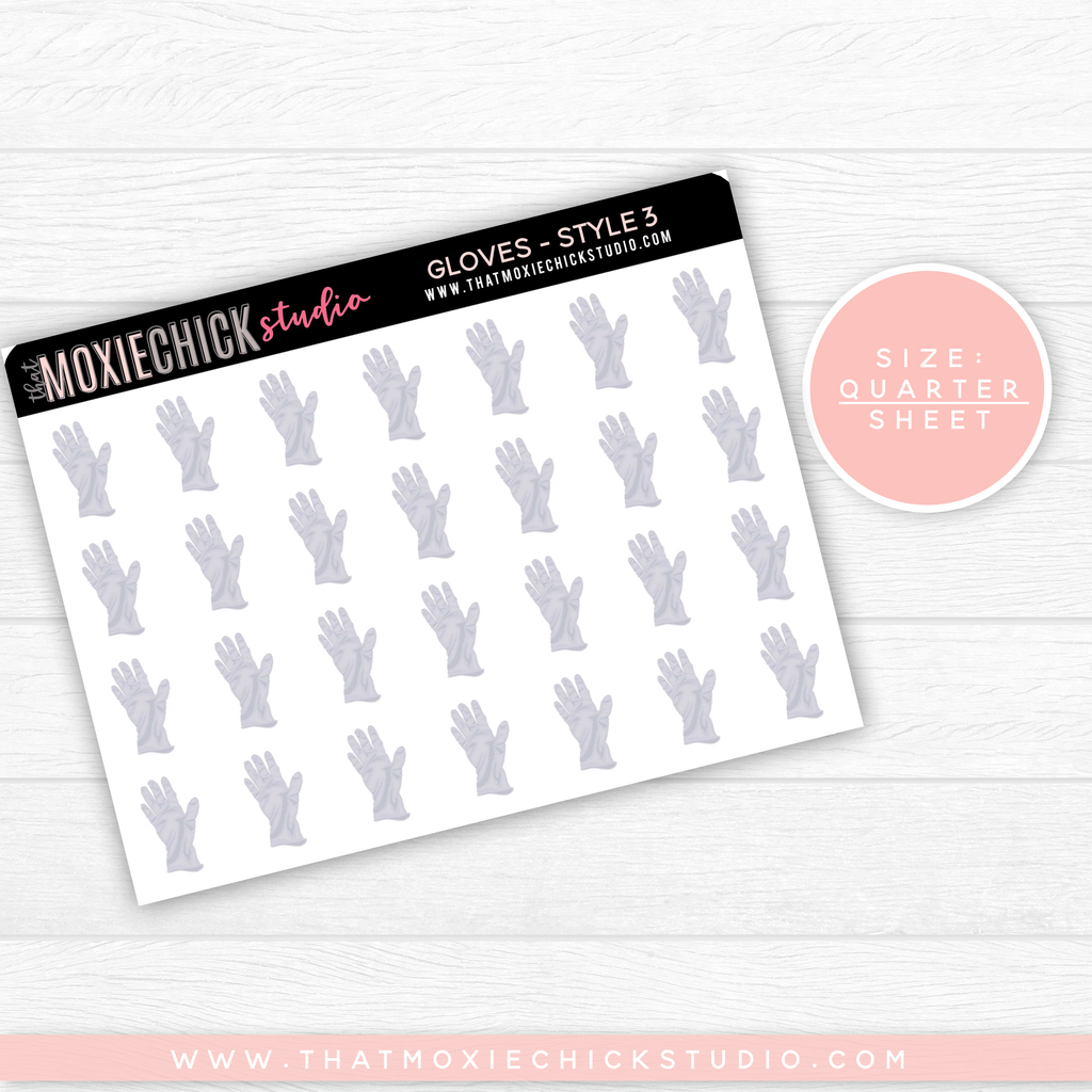GLOVES #3 // QUARTER SHEET // NEW RELEASE - That Moxie Chick Studio