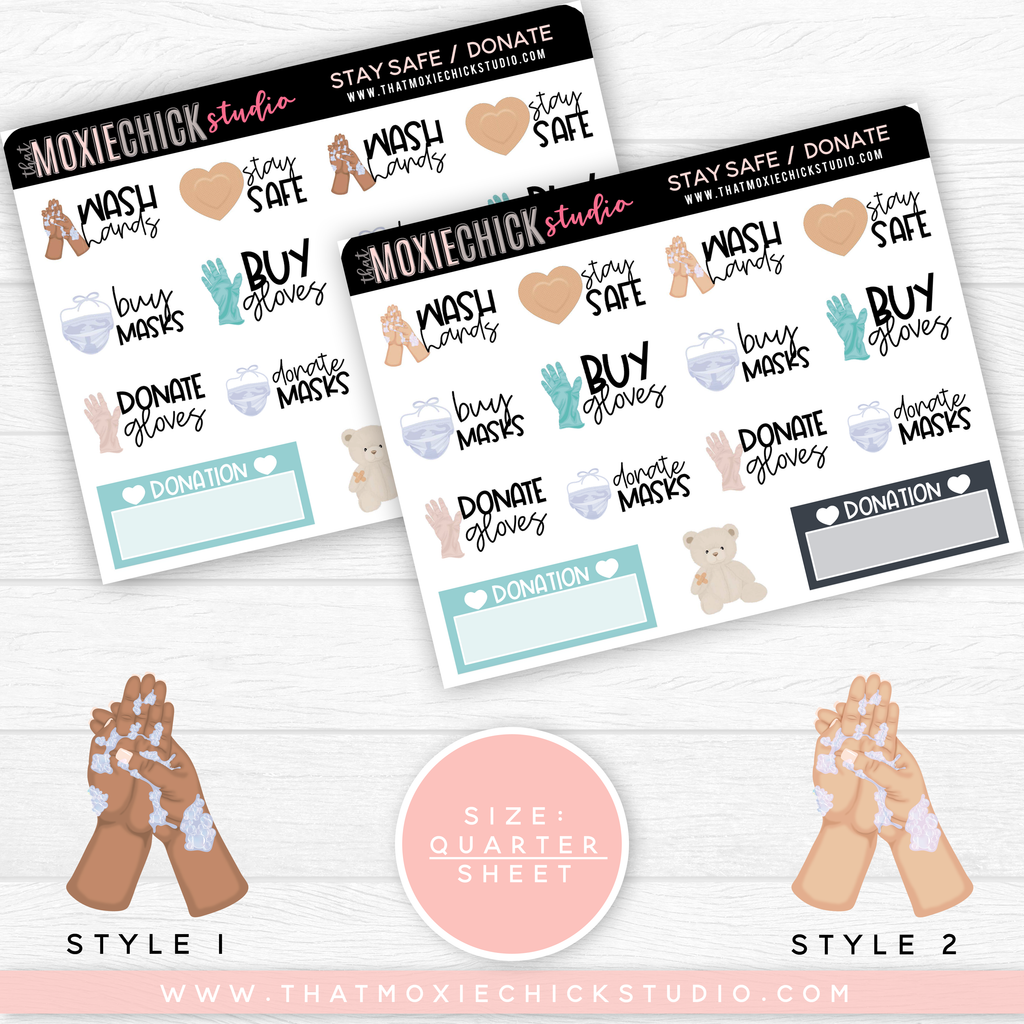 STAY SAFE - GIRLS // QUARTER SHEET // NEW RELEASE - That Moxie Chick Studio