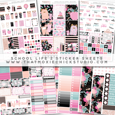 NEW 'School Life 2' Donation Sticker Sheets! // New Release - That Moxie Chick Studio