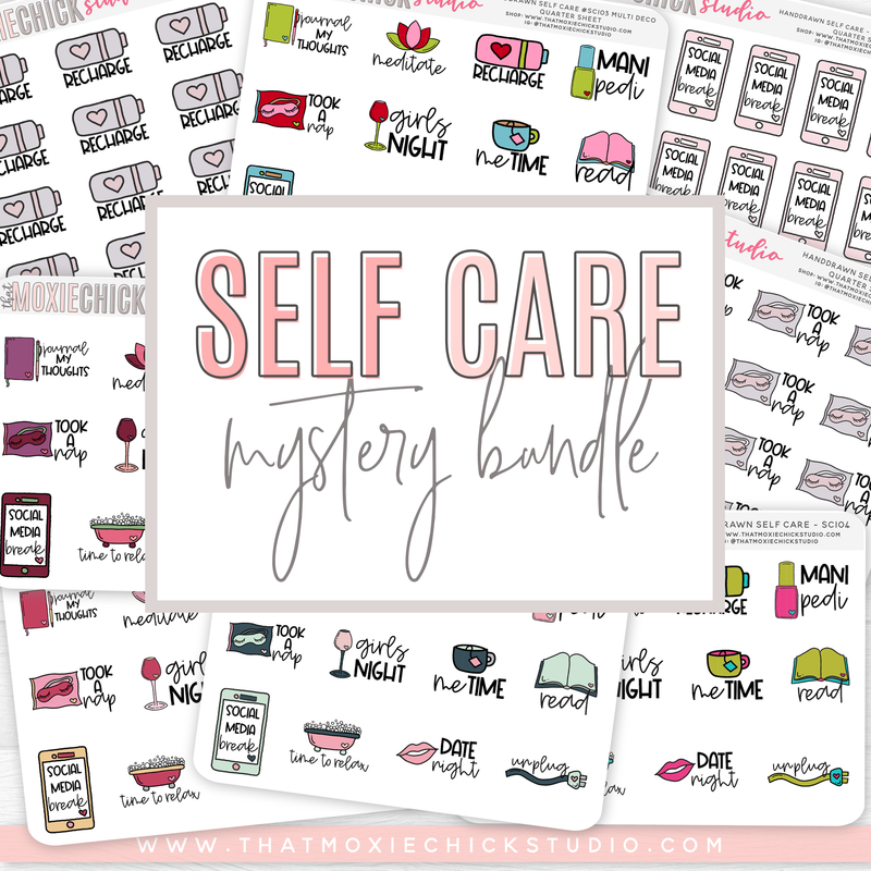 SELF CARE MYSTERY BUNDLE // 10 QUARTER SHEETS // NEW RELEASE - That Moxie Chick Studio
