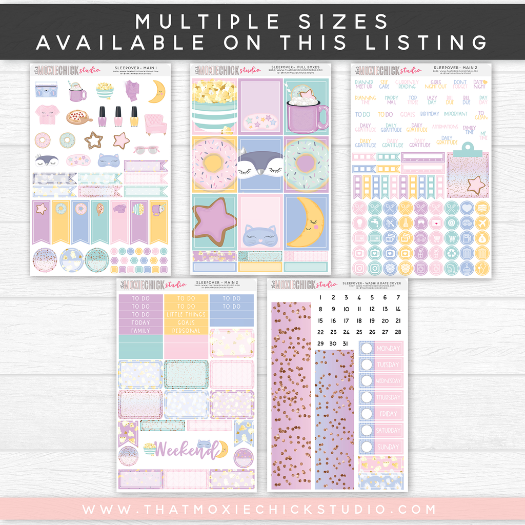 SLEEPOVER // NEW RELEASE // MULTIPLE SIZES ON THIS LISTING - That Moxie Chick Studio