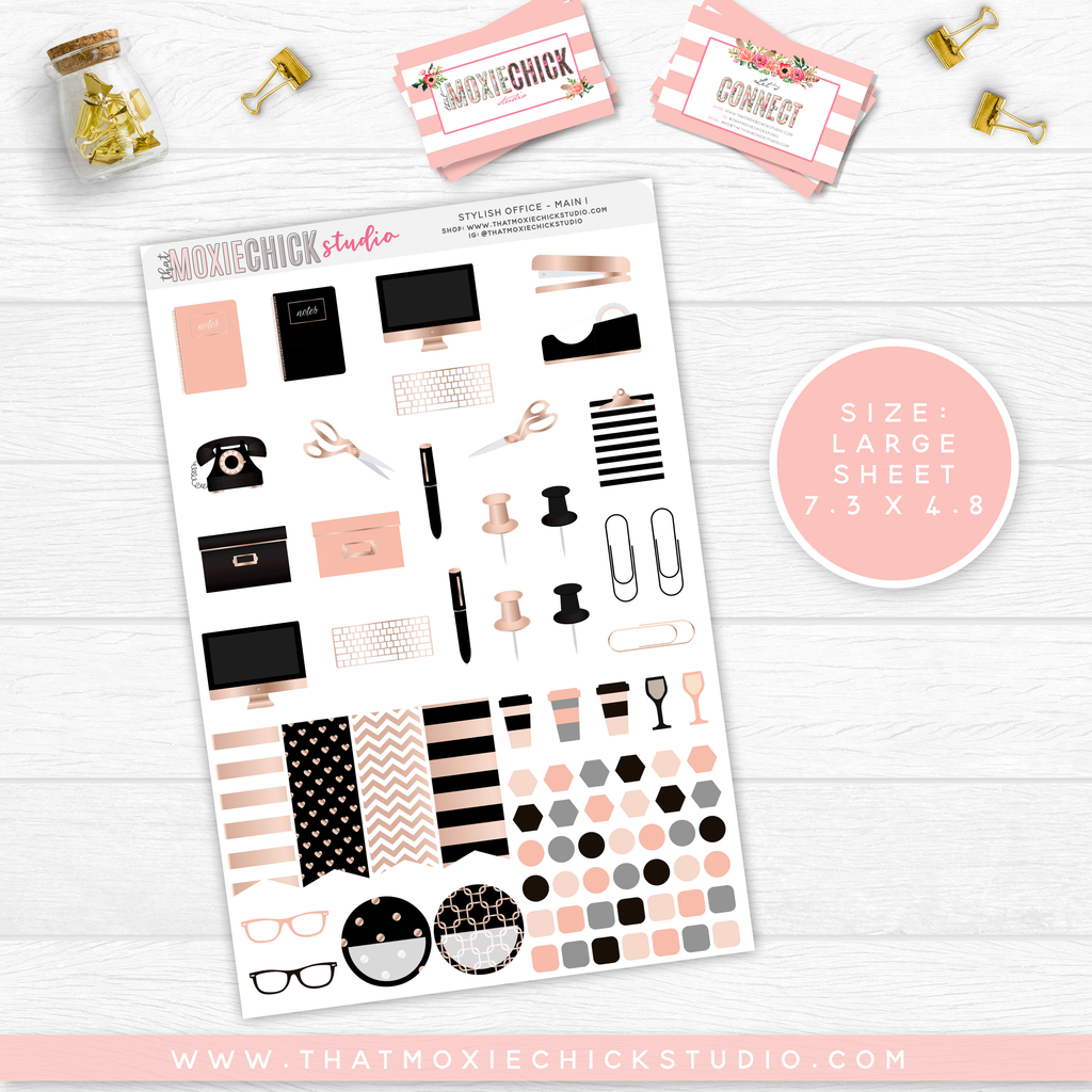 NEW RELEASE // STYLISH OFFICE // LARGE SHEETS - That Moxie Chick Studio