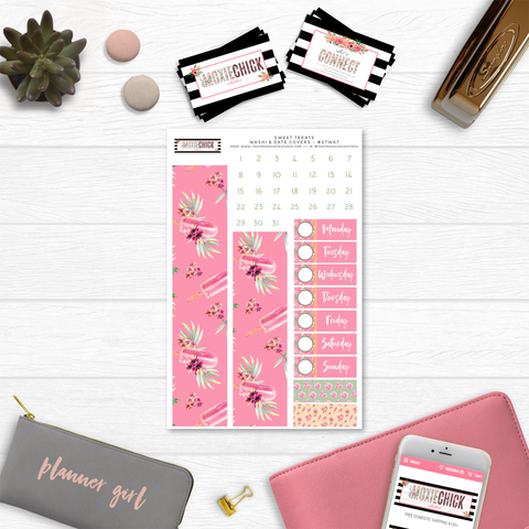 New Release // SWEET TREATS WASHI AND DATE COVERS // #STWA7 - That Moxie Chick Studio