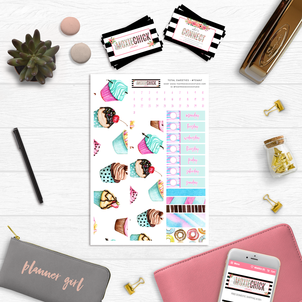Total Sweeties Washi and Date Covers - That Moxie Chick Studio