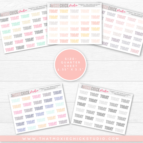 5 New 'TODAY' TYPOGRAPHY Quarter Size sheets  // New Release // BACK TO BASICS SERIES