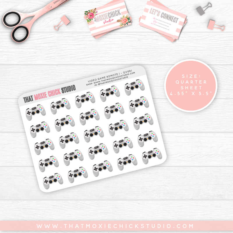 NEW RELEASE // VIDEO GAME REMOTE 1 // QUARTER SHEET - That Moxie Chick Studio